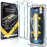 EGV Compatibile con iPhone 12/iPhone 12 Pro Pellicola Protettiva,3 Pack,Vetro Temperato, Installazione Semplice, con la Guida dello Strumento di Allineamento