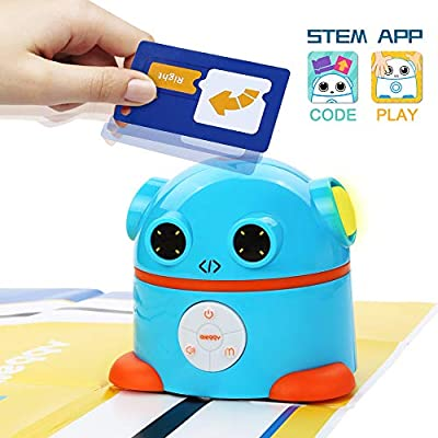 aieggy Coding Robot, Robot Toy with Art Sound Gesture Sensing Lights, STEM Learning Toys Programmable Educational Activity Robot Kit for Kids 4 5 6 7 Year Old