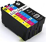 4 kompatibele Druckerpatronen mit Chip kompatibel für Epson 35XL 35 XL T3591 T3592 T3593 T3594 XL für Epson Workforce Pro WF-4720DWF, WF-4725DWF, WF-4730DTWF, WF-4730DWF, WF-4740DTWF, WF-4740DWF