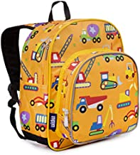 Wildkin 12 Inches Backpack for Toddlers, Boys and Girls, Ideal for Daycare, Preschool and Kindergarten, Perfect Size for School and Travel, Mom's Choice Award Winner, Olive Kids (Under Construction)