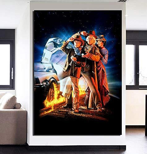 KWzEQ Imprimir en Lienzo Cartel de la película para la decoración del hogar Fotos póster de Arte de pared50x75cmPintura sin Marco