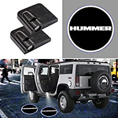 【What you get】A set of 2 for Hummer car door logo projector lights for both left and right doors. Best Christmas and Festivals gifts for your families and friends. 【Be Cool】The latest car wireless car door projector for Hummer with a Japanese high-de...