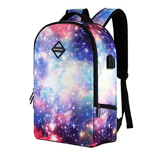 USB Starry Sky Backpack, Kid's Backpack, Children's Backpack, School Backpack, Headset Charging Business Travel Backpack, Student School Bag for Boy & Girl,B
