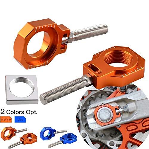 De accesorios de motos SX SXF EXC EXCF XC XCF XCW XCFW for Husqvarna TE FE TC FC 85 125 150 250 350 450 501 530 Eje trasero Bloquear Ajustador Chain Robusto y duradero (Color : Blue)