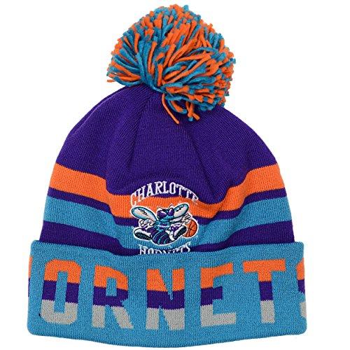 Mitchell & Ness Charlotte Hornets Trifecta Vintage Logo Knit Hat
