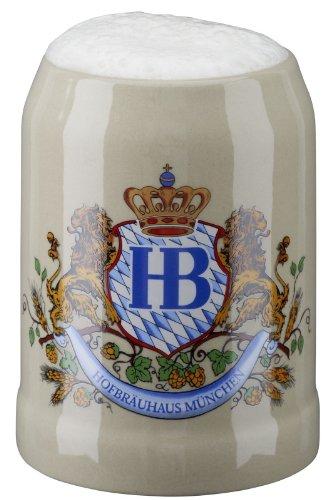 Hofbrauhaus Munchen Munich Lion Crest Stoneware German Beer Mug .5 L