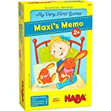 HABA 306062 - Meine allerersten Spiele - Maxi's Memo - Zwei kuschelige erste Erinnerungsspiele für 1 bis 4 Spieler - ab 2 Jahren - englische Version (Made in Germany)