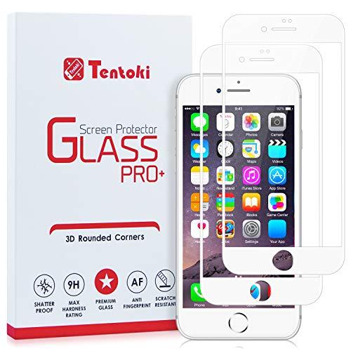 Tentoki Screen Protector for iPhone 8 / iPhone 7, [2 Pack] HD Full Coverage...