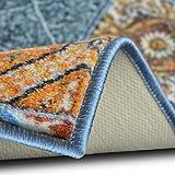 Teppichläufer Bonita | Patchwork Muster im Vintage Look | viele Größen | moderner Teppich Läufer für Flur, Küche, Schlafzimmer | Niederflor Flurläufer, Küchenläufer | Breite 80 cm x Länge 150 cm - 3