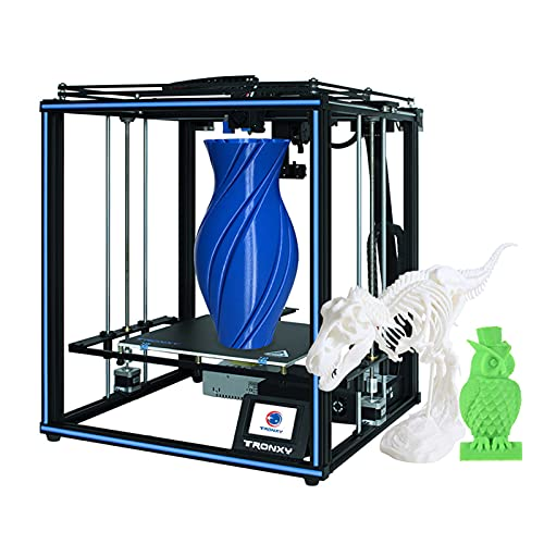 Fesjoy Tpu 3D Printer, X5SA PRO High Precision 3D Printer DIY Kit Self Assembly Large Printing Size 330 * 330 * 400mm Support Auto Leveling Filament Run-out Detection Power-off Resume Print