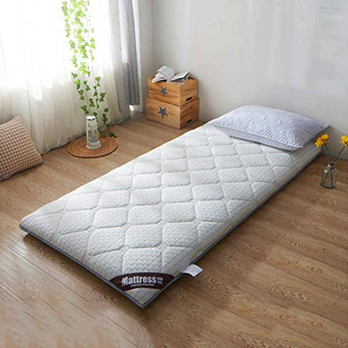 Foldable Tatami Mattress Cover, Soft Breathable Sleeping Mat Pad Non Slip Padded Padded Mattress Pad for Futon Mattresses Bedroom Dorm D 90x200cm (35x79 inch)