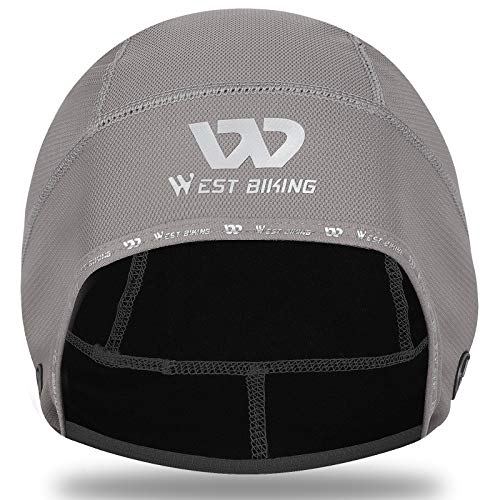 West Biking Fahrrad Mütze Herren Damen Unter Helm, Winddichte Sportmütze Elastische Helmmütze Hüte Kopfbedeckung für Kaltes Wetter Radfahren Skifahren Laufen Motorradfahren Outdoor-Sport