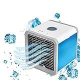 YING Aire Acondicionado Portátil, Enfriador De Aire Móvil, Enfriadores Evaporativos Personales 3 En 1, Ventilador De Enfriamiento USB De 3 Velocidades para Habitación Oficina Hogar Dormitorio Viajes