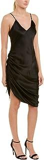 Womens Luka Silk Slip Dress, S, Black