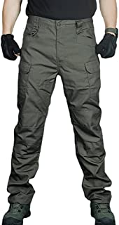 Tactical Pants for Men Lightweight Waterproof Trousers Outdoor Training Ripstop Cargo Hiking Pants with Multi Pocket (M,Gr...