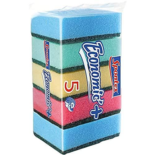 Spontex 61590001 Estropajos con Esponja de Poliuretano, 5 Unidades