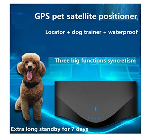 Purchase George zhang with Dog Training Function, pet microlocator, GPS Satellite, Lost-Proof, Waterproof, Tracking and Sending Collar, which is Long and Standby