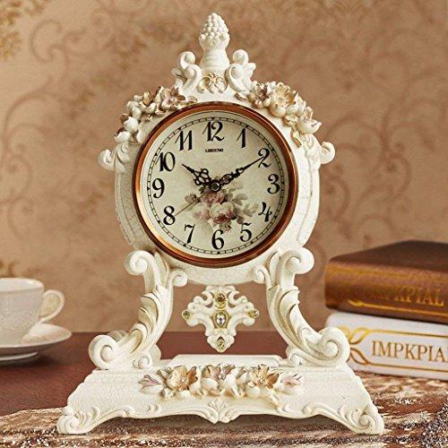 DSJ Tafelklok Antieke Europese Klok Rustige Woonkamer Klok Nachtkastje Decoratieve Creatieve Swing Klok Antieke Klok