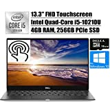 Dell XPS 13 7390 2020 Premium Laptop I Intel Quad-Core i5-10210U (i7-8565U) I 13.3' FHD Touchscreen I 4GB RAM 256GB PCIe SSD I Fingerprint Backlit Thunderbolt Win 10 Pro + Delca 16GB Micro SD Card