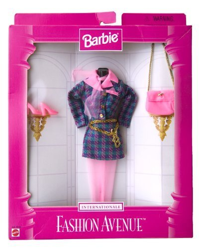 Barbie Fashion Avenue Internationale ~ Pink/Turquoise checkered Suite w/Accessories by Mattel