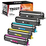 ABOIT Compatible Toner Cartridge Replacement for Brother TN227 TN-227 TN227BK TN223 TN 223 TN 227 for MFC-L3770CDW MFC-L3750CDW HL-L3230CDW HL-L3290CDW HL-L3210CW MFC-L3710CW Toner(5 Pack)
