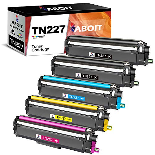ABOIT Cartucho de tóner compatible para Brother TN227 TN-227 TN227BK TN223 TN 223 TN 227 para MFC-L3770CDW MFC-L3750CDW HL-L3230CDW...