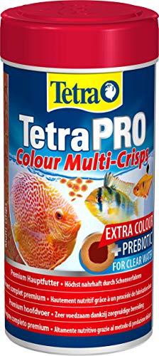Tetra PRO Colour Multi-Crisps 250 ml - Mangime Completo di qualità Superiore con Valori Nutrizionali Eccellenti, Concentrato di Pigmenti Extra Esalta la Colorazione dei Pesci