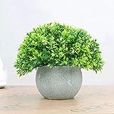 Mini Plantas Artificiales de plástico, Hierba en Maceta, Plantas de vegetación Artificial, arbustos de topiario, Plantas Falsas para baño, decoración de la casa (Color : A)