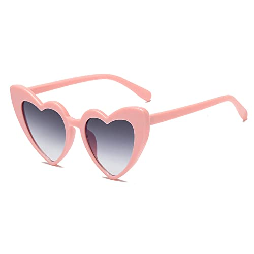 7f49489958b Heart-Shaped Sunglasses Women Vintga Black Pink Red Heart Shape Sun Glasses