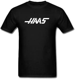 SWWM Men's Haas F1 Short Sleeve Cotton T Shirt Black