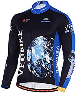 SonMo cycling suit sports clothing cycling jersey riding suit mountain biking suit cycling jersey cycling shirt sports jacket long sleeve winter thermal, l