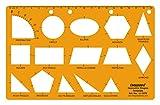 Linograph Geometrische Formen Zeichnung Drafting Schule & Büro Vorlage Schablone