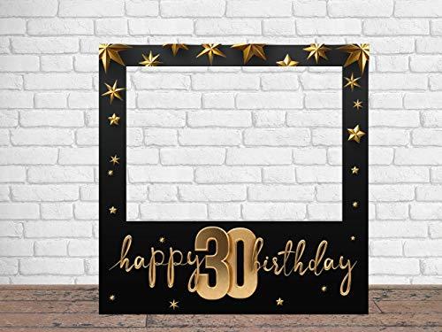 Photocall Feliz 30 Cumpleaños Estrellas 100 x100 cm | Regalos para Cumpleaños | Photocall Económico y Original | Ideas para Regalos | Regalos Personalizados de Cumpleaños