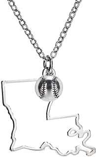 GIMMEDAT State of Mine: Softball Silver Necklace