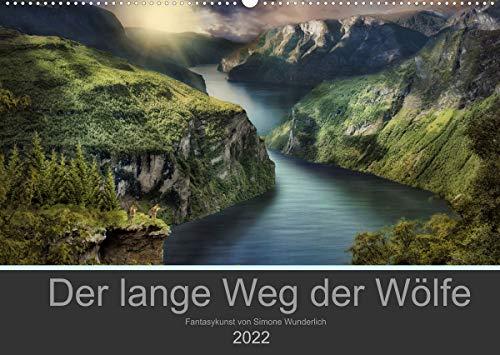 Der lange Weg der Wölfe (Wandkalender 2022 DIN A2 quer): Eine Wolfsliebe in fantastischen BIldern (Monatskalender, 14 Seiten )