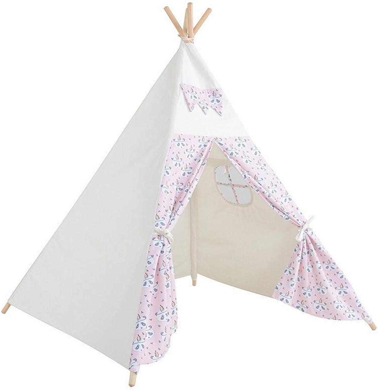 JINGJIJNG Zelt für Kinder Innen und auen Prinzessin Spielhaus Drucken Kinderzelt Kindertheater Spielzelt Zelt-Spiel
