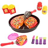 IQ Toys Pretend Play 19 Piece Pizza Set, Complete Pizza Party Cutting & Serving Playset