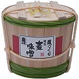 二反田醤油 蔵づくり長期熟成麦味噌 4kg木樽入り