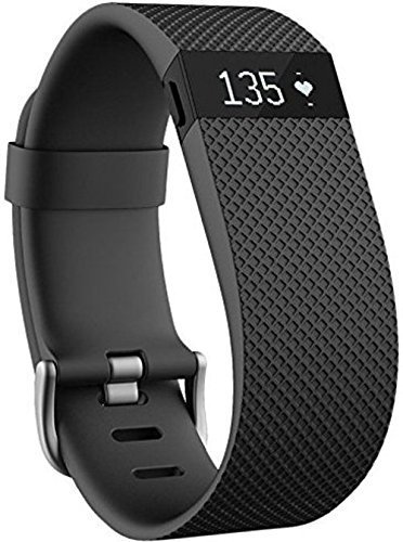 Fitbit Charge HR FB405BKL Activity Tracker with Heart Rate Monitor - Large - Black (Certified Refurbished)