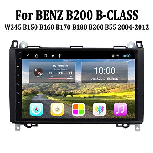 MonLG Auto GPS, Eingebaute 9-Zoll-Offline-Karte, Android 9-Autoradio-Multimedia-Player für Mercedes Benz B200 B-Klasse 2004-2012, mit Bluetooth-Freisprecheinrichtung,4g+WiFi 2g+32g