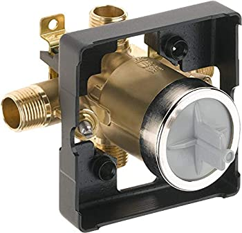 R10000-UNWS MultiChoice Universal Tub and Shower Valve Body  with Screwdriver Stops  for Delta Tub Shower Faucet Trim Kits Compatible with Delta R10000-UNBX Rough Valve with Shut Off Stops