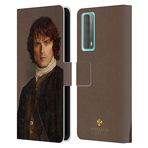 Head Case Designs Licenciado Oficialmente Outlander Jamie Tradicional Personajes Carcasa de Cuero Tipo Libro Compatible con Huawei P Smart (2021)