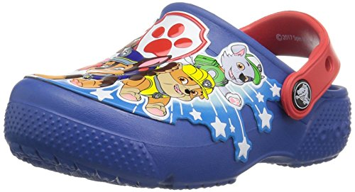 crocs Boys' funlab Pawpatrol K Clog, Blue Jean, 7 M US Toddler