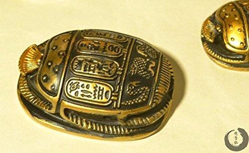 Antiguo egipcio escarabajo amuletos adornos Fayence Nilo recuerdos hogar decoración