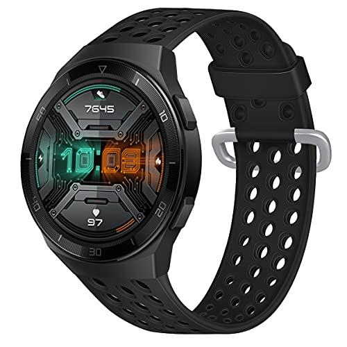 Gransho Repuesto de Correa de Reloj de Silicona Compatible con Amazfit GTR 47mm / GTR 2 / Pace/Stratos 3 / Stratos 2S / GTR 2e, Caucho Fácil de Abrochar para Relojes y Smartwatch (22mm, Pattern 10)