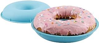 Webake Jumbo Silicone Donut Cake Pan Non-Stick Bagel Cake Mold Set of 2 Halves Baking Molds