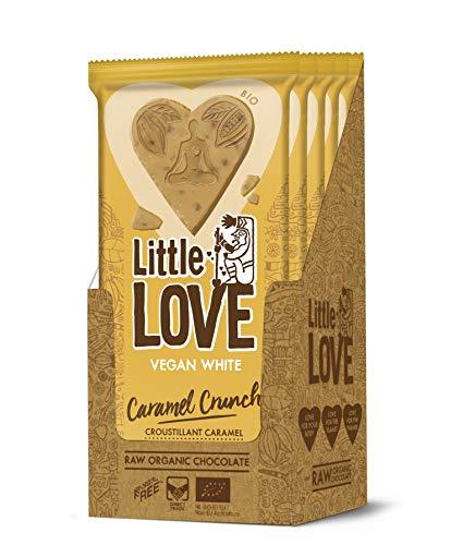 Little Love die achtsame Schokolade. Biologische weiße Tafel - White Caramel Crunch, 8 x 65 g Tafeln (Box 520 g)