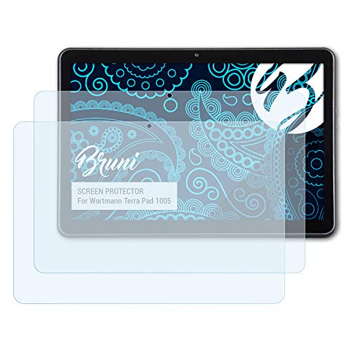 Bruni Schutzfolie kompatibel mit Wortmann Terra Pad 1005 Folie, glasklare Bildschirmschutzfolie (2X)