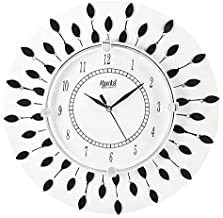 KK Craft Wooden Analog Wall Clock for Home/Living Room/Bedroom/Kitchen/Offices