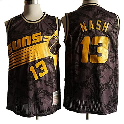 TGSCX Jerseys de Baloncesto para Hombres, NBA Phoenix Sols # 13 Nash Jersey, Tejido Fresco Transpirable, Fan de Baloncesto Unisex sin Mangas de Chaleco Deportivo,A,M